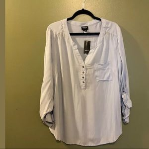 Torrid Baby Blue Blouse - Size 1 NWT